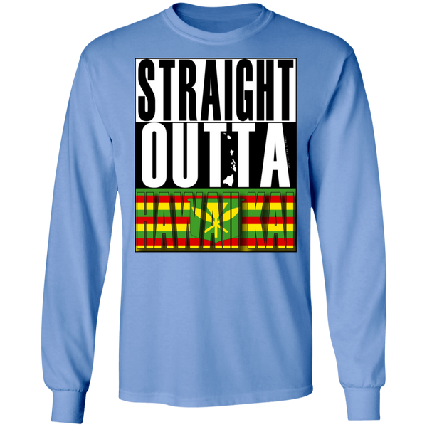 Straight Outta Hawaii Kai(Kanaka Maoli) LS T-Shirt, T-Shirts, Hawaii Nei All Day