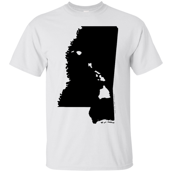Living in Mississippi with Hawaii Roots Ultra Cotton T-Shirt, T-Shirts, Hawaii Nei All Day, Hawaii Clothing Brands