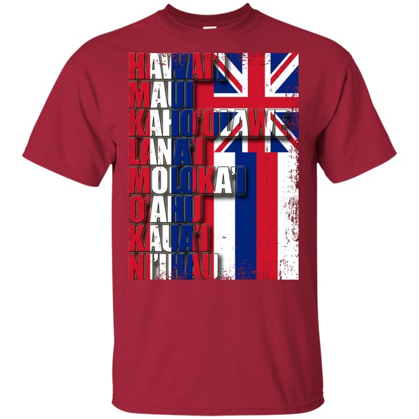 Hawaiian Island Pride Youth Ultra Cotton T-Shirt, T-Shirts, Hawaii Nei All Day, Hawaii Clothing Brands