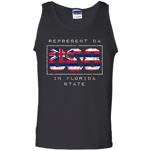 Represent Da 808 In Florida State 100% Cotton Tank Top, Sleeveless, Hawaii Nei All Day