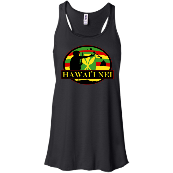 Hawai'i Nei Kanaka Maoli Bella+Canvas Flowy Racerback Tank, , Hawaii Nei All Day, Hawaii Clothing Brands