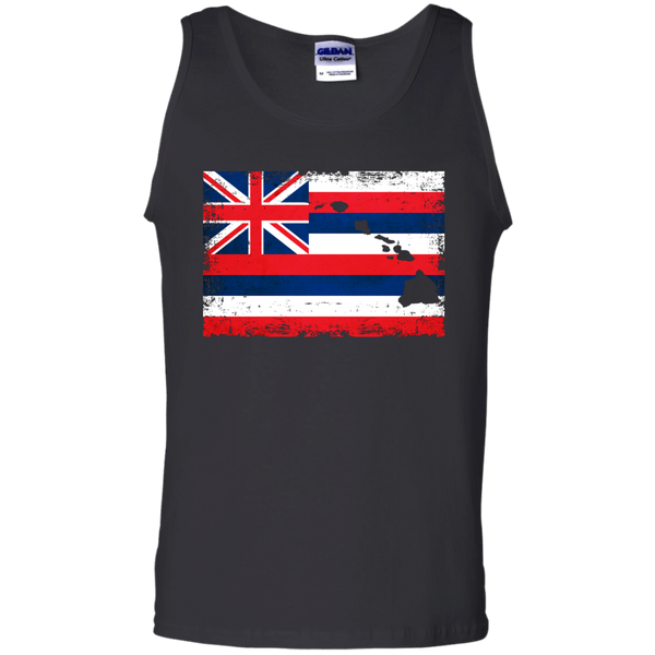 Hawaii State 100% Cotton Tank Top, Sleeveless, Hawaii Nei All Day