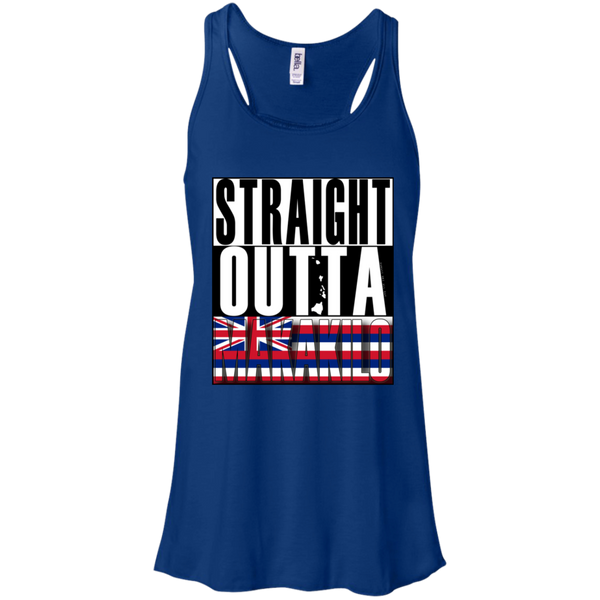 Straight Outta Makakilo Hawai'i Racerback Tank, T-Shirts, Hawaii Nei All Day