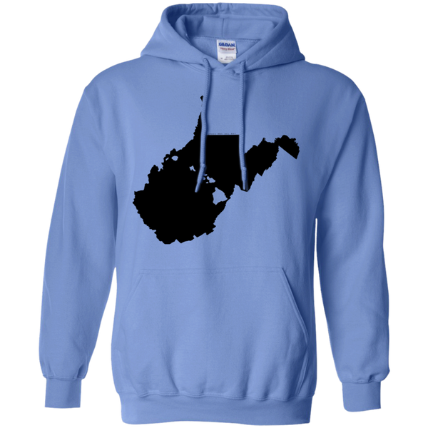 Living in West Virginia with Hawaii Roots Pullover Hoodie 8 oz., Sweatshirts, Hawaii Nei All Day