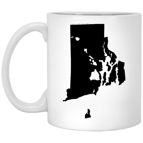 Rhode Island and Hawaii Roots White Mug, Apparel, Hawaii Nei All Day