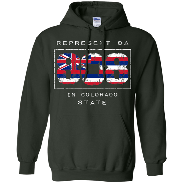 Rep Da 808 In Colorado State Pullover Hoodie, Sweatshirts, Hawaii Nei All Day