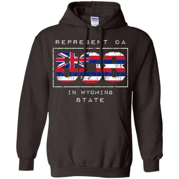 Rep Da 808 In Wyoming State Pullover Hoodie, Sweatshirts, Hawaii Nei All Day