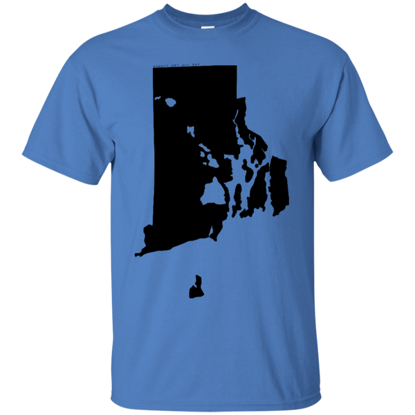 Living in Rhode Island with Hawaii Roots Ultra Cotton T-Shirt, T-Shirts, Hawaii Nei All Day