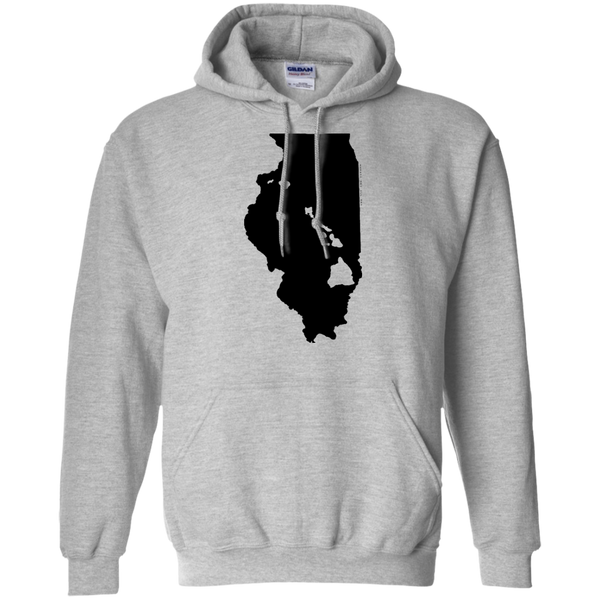 Living in Illinois with Hawaii Roots Pullover Hoodie 8 oz., Sweatshirts, Hawaii Nei All Day