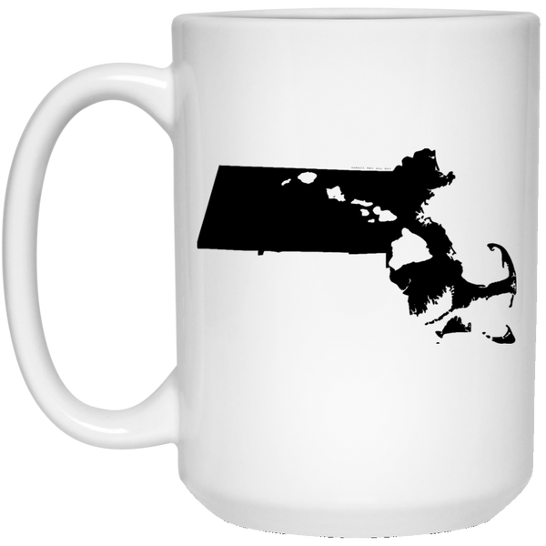 Massachusetts and Hawaii Roots White Mug, Apparel, Hawaii Nei All Day