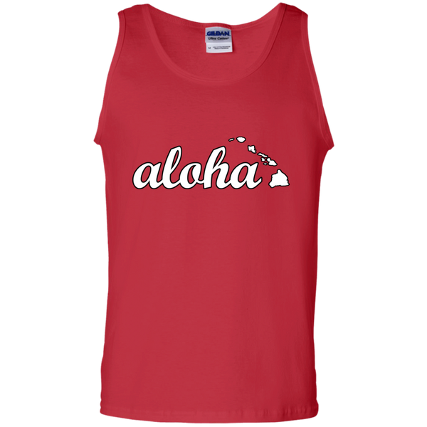 Aloha 100% Cotton Tank Top, Sleeveless, Hawaii Nei All Day