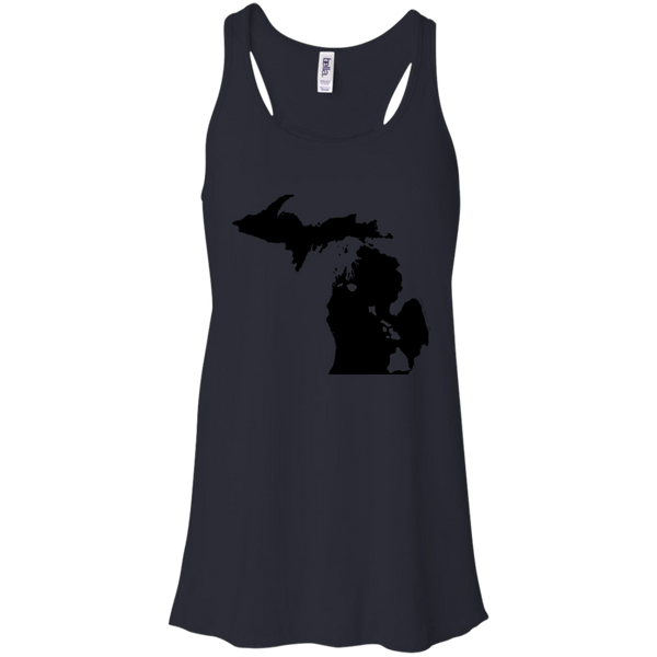 Living in Michigan with Hawaii Roots Bella + Canvas Flowy Racerback Tank - Hawaii Nei All Day