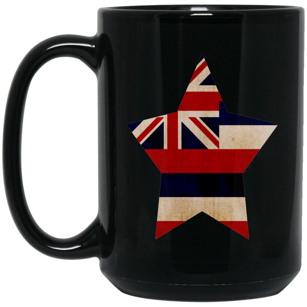 Hawaiian Star 15 oz. Black Mug, Drinkware, Hawaii Nei All Day