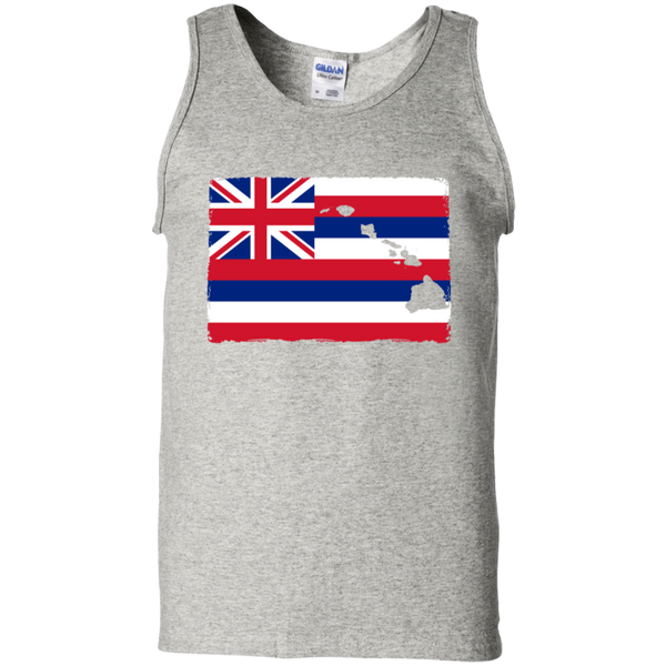Hawai'i Aloha State Flag 100% Cotton Tank Top, T-Shirts, Hawaii Nei All Day