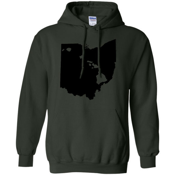 Living in Ohio with Hawaii Roots Pullover Hoodie 8 oz., Sweatshirts, Hawaii Nei All Day