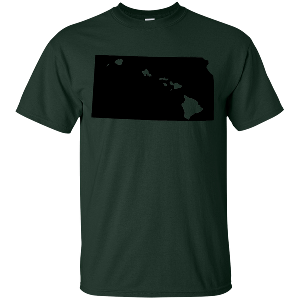 Living in Kansas with Hawaii Roots Ultra Cotton T-Shirt, T-Shirts, Hawaii Nei All Day