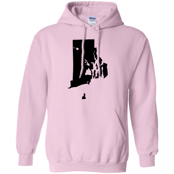 Living in Rhode Island with Hawaii Roots Pullover Hoodie 8 oz., Sweatshirts, Hawaii Nei All Day