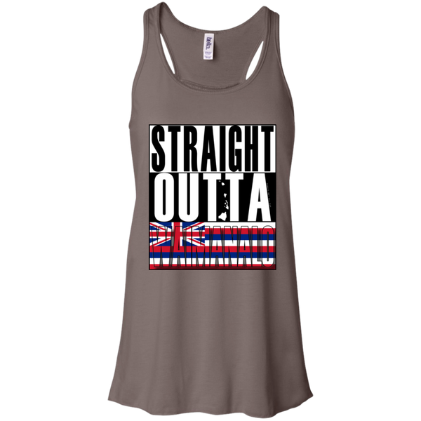 Straight Outta Waimanalo Hawai'i Racerback Tank, T-Shirts, Hawaii Nei All Day