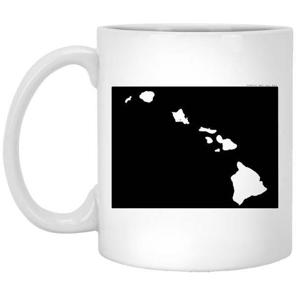 Colorado and Hawaii Roots White Mug, Apparel, Hawaii Nei All Day