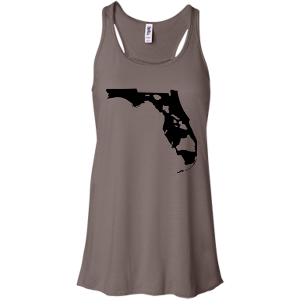 Living In Florida With Hawaii Roots Bella+Canvas Flowy Racerback Tank, , Hawaii Nei All Day, Hawaii Clothing Brands