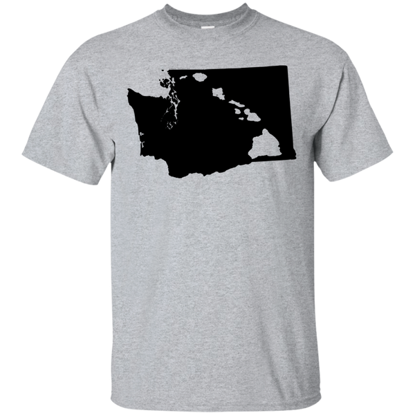 Living In Washington With Hawaii Roots Custom Ultra Cotton T-Shirt, Short Sleeve, Hawaii Nei All Day, Hawaii Clothing Brands