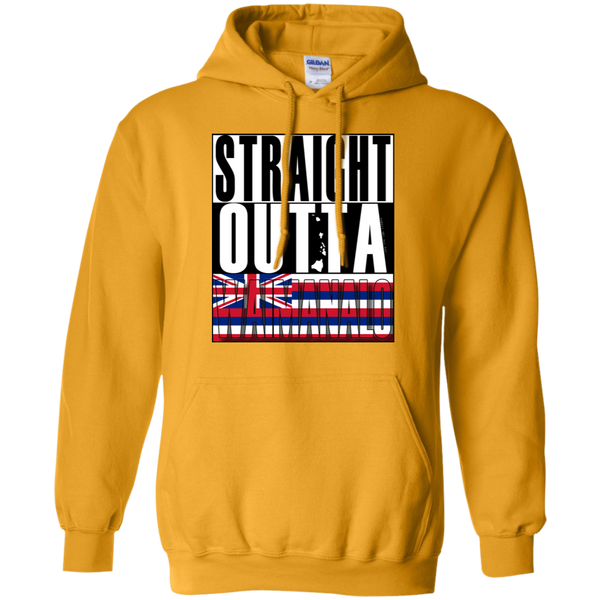 Straight Outta Waimanalo Hawai'i Pullover Hoodie, Sweatshirts, Hawaii Nei All Day