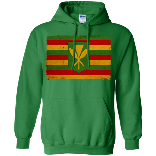 Kanaka Maoli Flag Pullover Hoodie 8 oz, Hoodies, Hawaii Nei All Day, Hawaii Clothing Brands