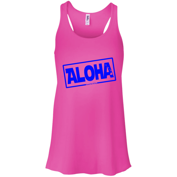 Aloha Hawai'i Nei (Islands blue ink) Racerback Tank, T-Shirts, Hawaii Nei All Day