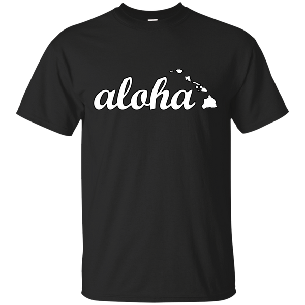 Aloha Hawaiian Islands Ultra Cotton T-Shirt, Short Sleeve, Hawaii Nei All Day