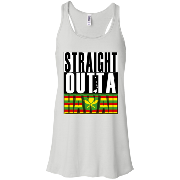 Straight Outta Hawaii(kanaka maoli) Racerback Tank, T-Shirts, Hawaii Nei All Day