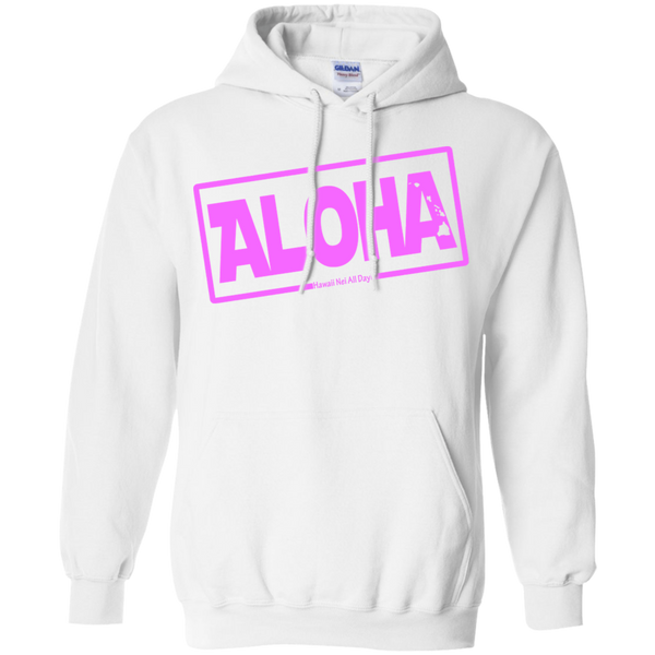 Aloha Hawai'i Nei (Islands pink ink) Pullover Hoodie, Sweatshirts, Hawaii Nei All Day