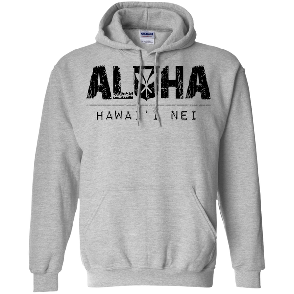 Aloha Hawai'i Nei Pullover Hoodie 8 oz., Sweatshirts, Hawaii Nei All Day, Hawaii Clothing Brands