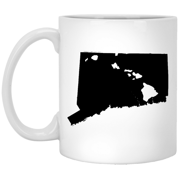 Connecticut and Hawaii Roots White Mug