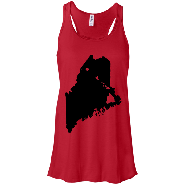Living in Maine with Hawaii Roots Bella + Canvas Flowy Racerback Tank, T-Shirts, Hawaii Nei All Day, Hawaii Clothing Brands