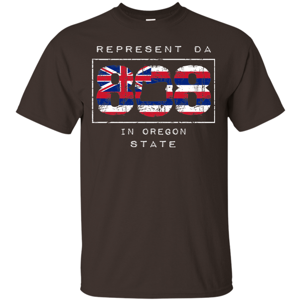 Rep Da 808 In Oregon State Ultra Cotton T-Shirt, T-Shirts, Hawaii Nei All Day