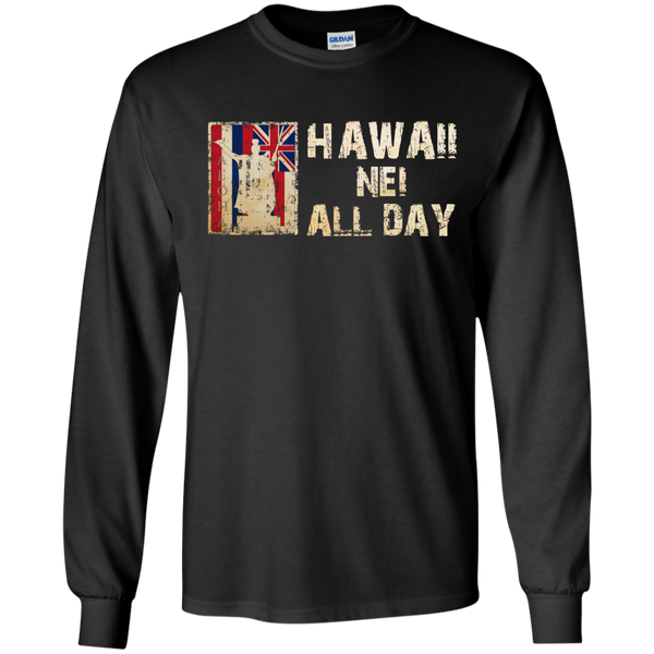 Hawaii Nei ALL DAY LS Ultra Cotton Tshirt - Hawaii Nei All Day