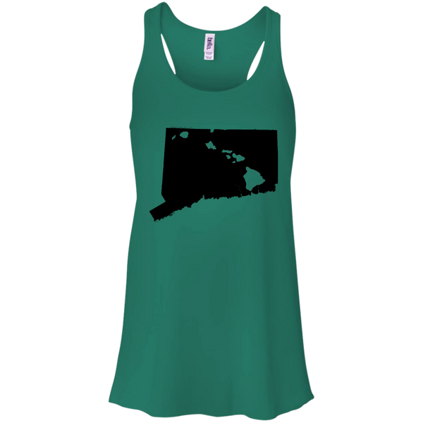 Living in Connecticut with Hawaii Roots Bella + Canvas Flowy Racerback Tank, T-Shirts, Hawaii Nei All Day, Hawaii Clothing Brands