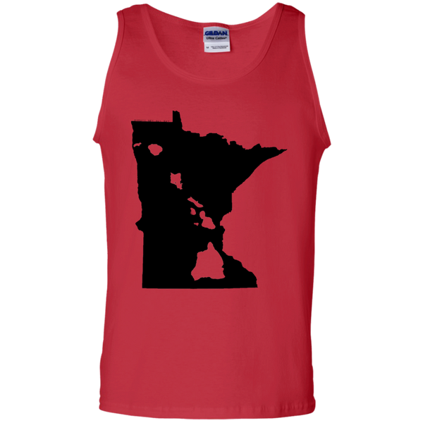 Living in Minnesota with Hawaii Roots 100% Cotton Tank Top, T-Shirts, Hawaii Nei All Day, Hawaii Clothing Brands