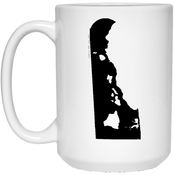 Delaware and Hawaii Roots White Mug, Apparel, Hawaii Nei All Day