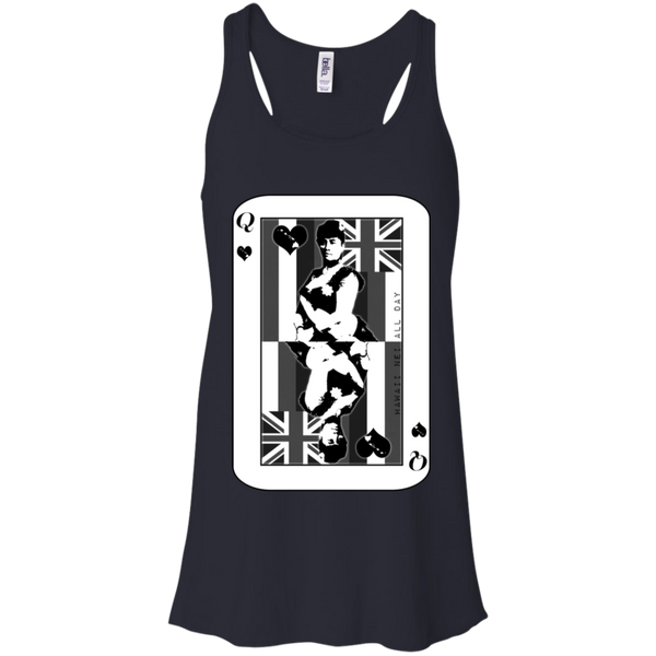The Queen of Hawai'i Liliuokalani (black ink) Racerback Tank, T-Shirts, Hawaii Nei All Day