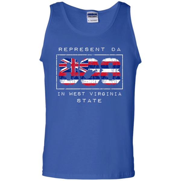 Rep Da 808 In West Virginia State 100% Cotton Tank Top, T-Shirts, Hawaii Nei All Day