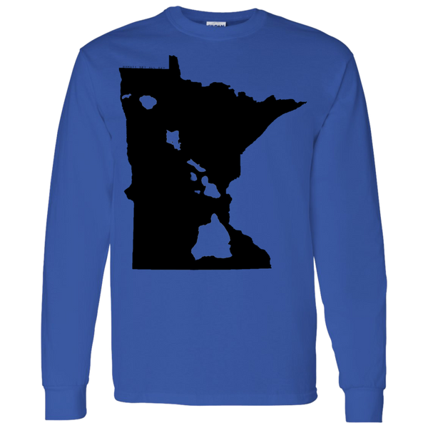 Living in Minnesota with Hawaii Roots LS T-Shirt 5.3 oz., T-Shirts, Hawaii Nei All Day, Hawaii Clothing Brands