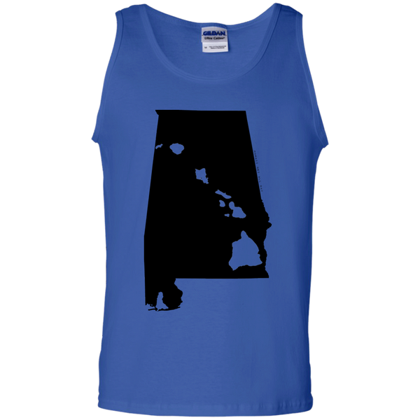 Living in Alabama with Hawaii Roots 100% Cotton Tank Top, T-Shirts, Hawaii Nei All Day