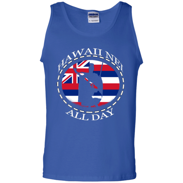 The Rising Sun  100% Cotton Tank Top, T-Shirts, Hawaii Nei All Day, Hawaii Clothing Brands