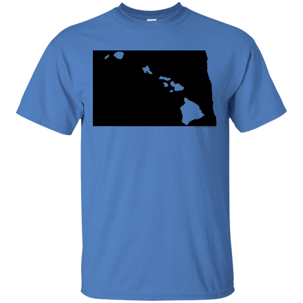 Living in North Dakota with Hawaii Roots Ultra Cotton T-Shirt, T-Shirts, Hawaii Nei All Day, Hawaii Clothing Brands