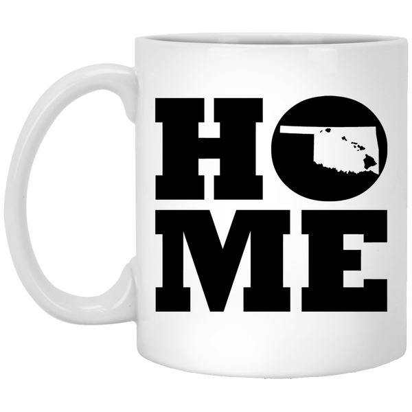 Home Roots Hawai'i and Oklahoma White Mug, Apparel, Hawaii Nei All Day