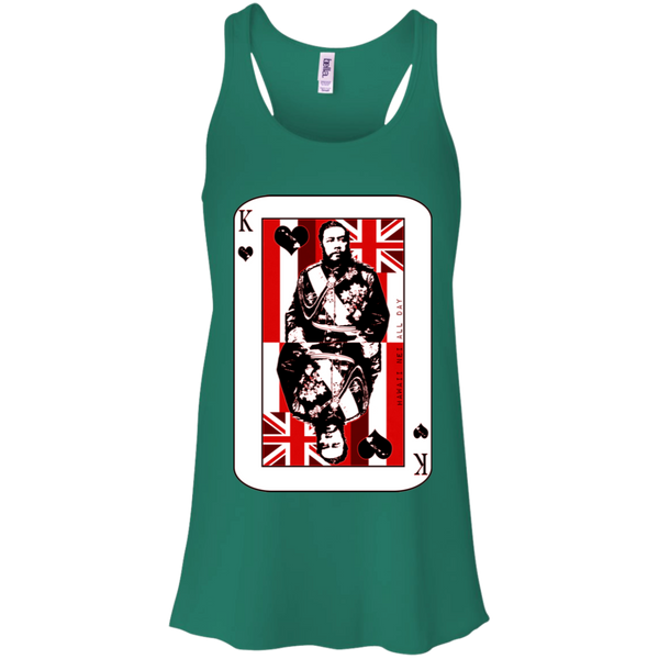 The King of Hawai'i Kalakaua(red ink) Racerback Tank, T-Shirts, Hawaii Nei All Day