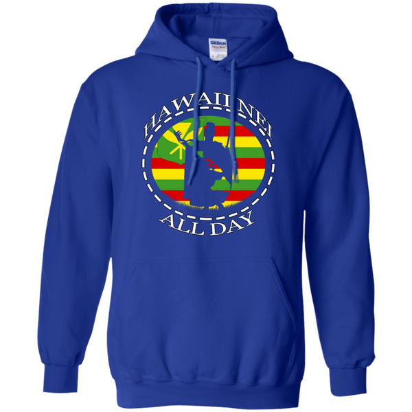 The Rising Sun Kanaka Maoli Flag Pullover Hoodie, Sweatshirts, Hawaii Nei All Day