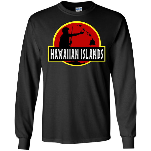 Hawaiian Islands LS Ultra Cotton Tshirt - Hawaii Nei All Day