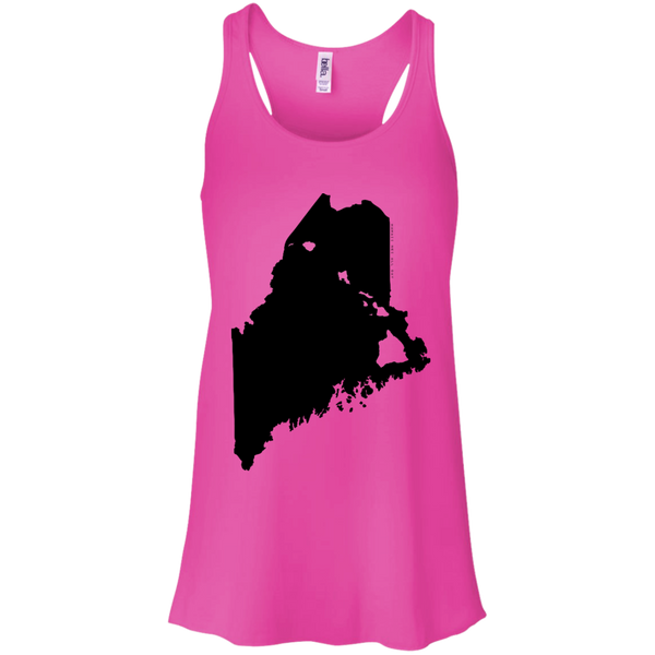 Living in Maine with Hawaii Roots Bella + Canvas Flowy Racerback Tank, T-Shirts, Hawaii Nei All Day